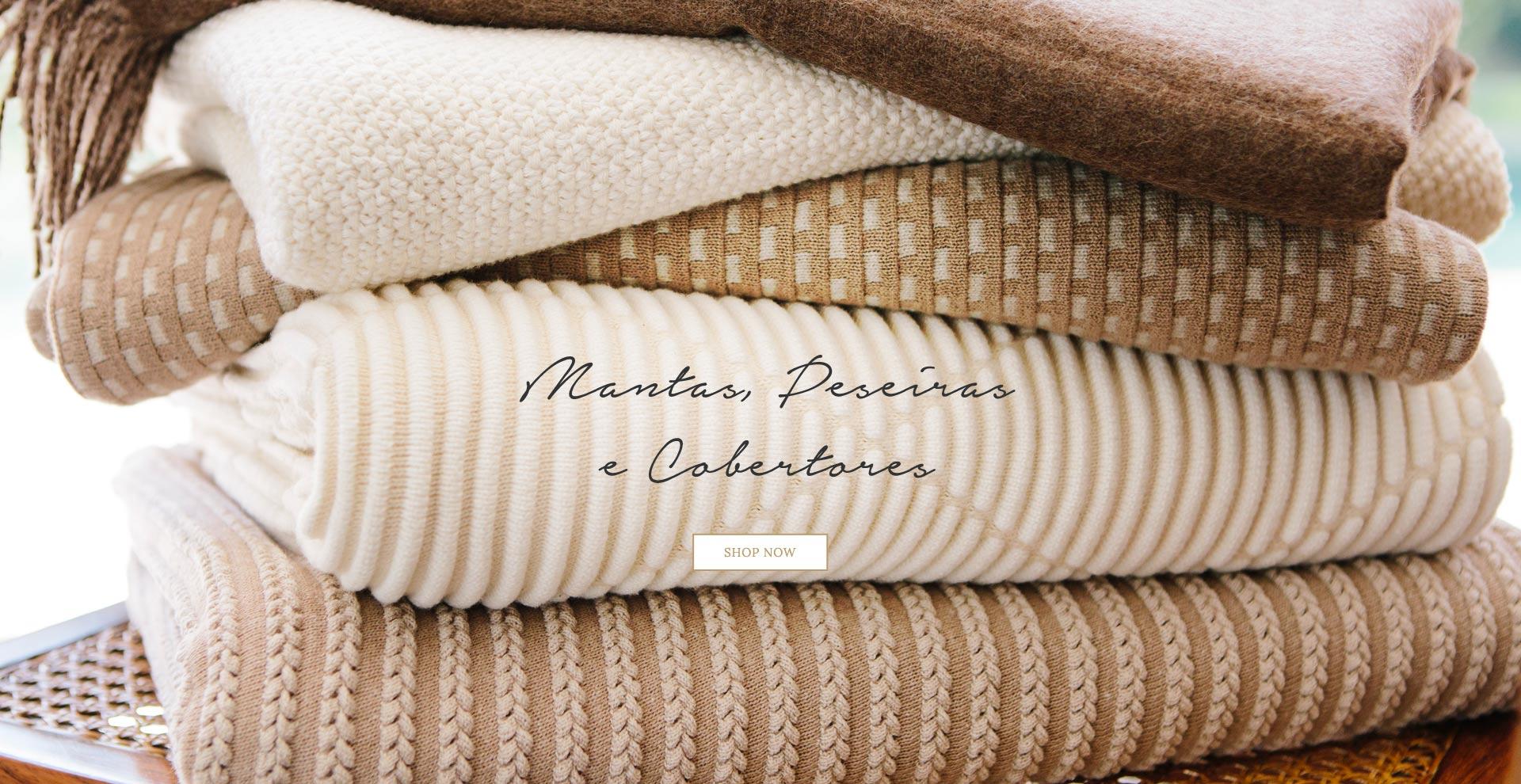 Mantas e cobertores inverno